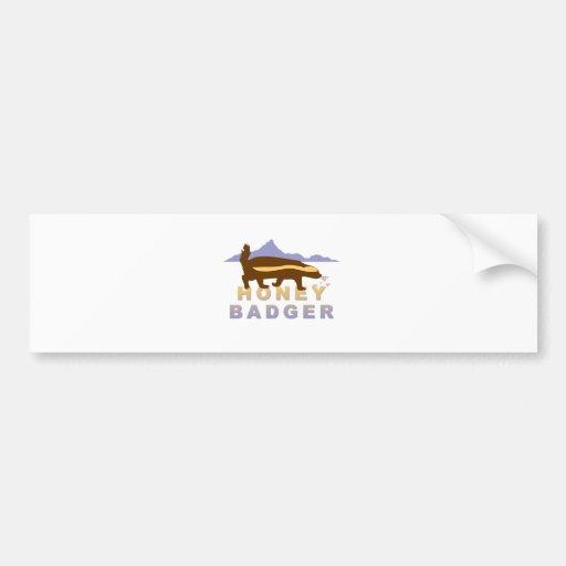 pretty honey badger bumper stickers