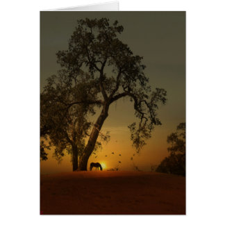 Pretty Horse and Oak Tree Thank You Card