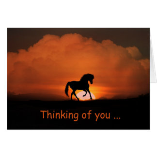 Pretty Horse Thinking of You Card