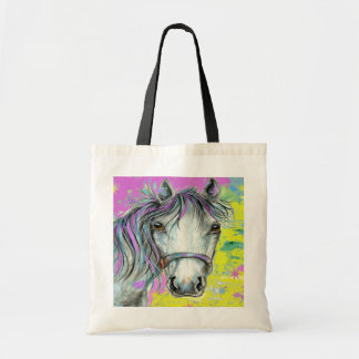 Pretty Horse with Pink Tote Bag