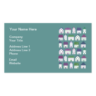 Pretty House Icons Real Estate Agent Pack Of Standard Business Cards
