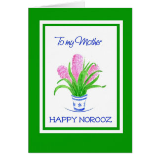 Pretty Hyacinths Persian New Year, for Mother Card