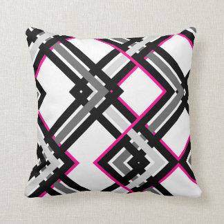 Pretty In Geo-Plaid Cushion