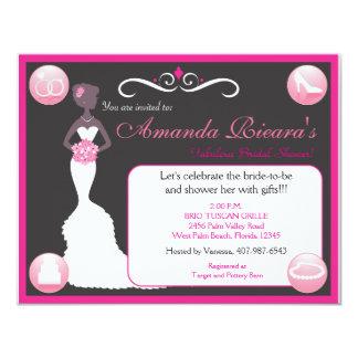 """Pretty In Pink 4.25"""" X 5.5"""" Invitation Card"""