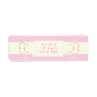 Pretty in Pink Baby Shower, Address Labels