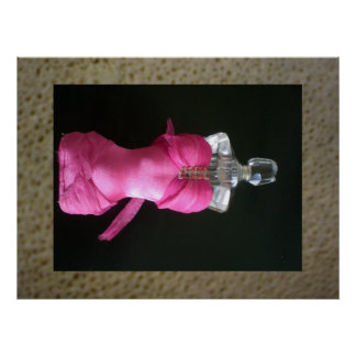 Pretty in Pink bask perfume bottle Poster