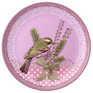 Pretty in Pink Bird Decorative Plate