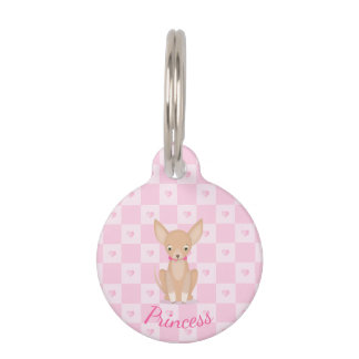 Pretty in Pink Chihuahua Pet ID Tag