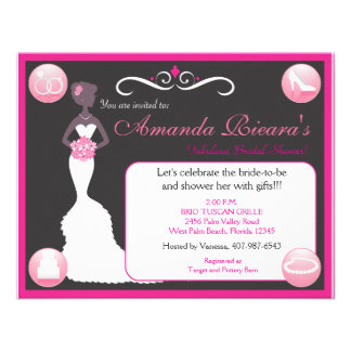 Pretty In Pink Custom Invitation