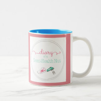 Pretty in Pink Diary of a Semi-Health Nut Mug