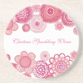 Pretty in Pink Elegant Corporate Promotional Items Beverage Coaster