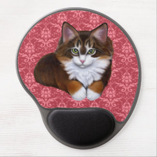 Pretty in Pink Fluffy Kitty Cat Mousepad