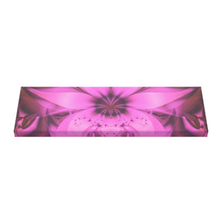 Pretty in Pink Fractal Flower Star-Shaped Petunias Canvas Print