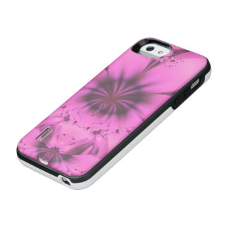 Pretty in Pink Fractal Flower Star-Shaped Petunias iPhone SE/5/5s Battery Case