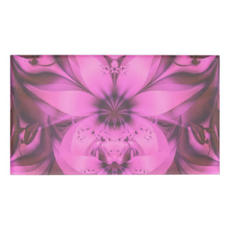 Pretty in Pink Fractal Flower Star-Shaped Petunias Name Tag