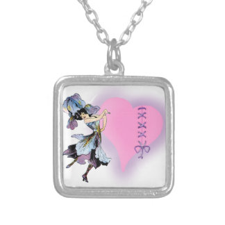 Pretty in Pink Gift ideas girls Square Pendant Necklace