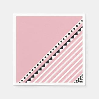 Pretty in pink napkins paper serviettes