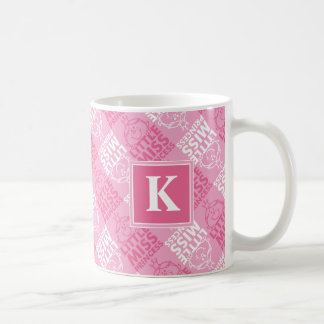 Pretty In Pink Pattern | Monogram Coffee Mug