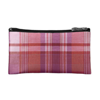 Pretty in Pink Plaid Cosmetics Bags