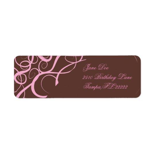 Pretty in Pink Return Address Label