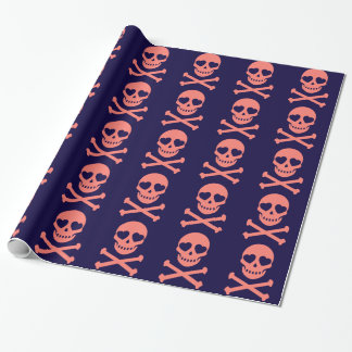 Pretty in pink skulls wrapping paper
