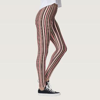 Pretty in Pink Stripes Playful Pattern Leggings