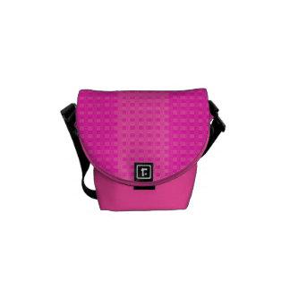 Pretty in Pink Stripes Rickshaw Messenger Bag