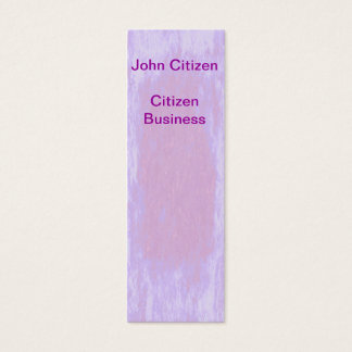 Pretty in Pink Texture Mini Business Card