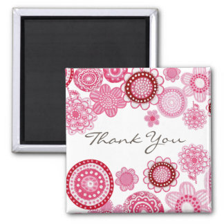Pretty in Pink Thank You Wedding Gift Magnet