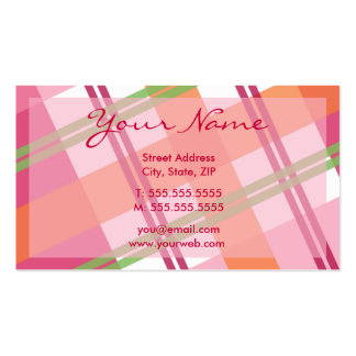 Pretty In Plaid Profile Cards Pack Of Standard Business Cards