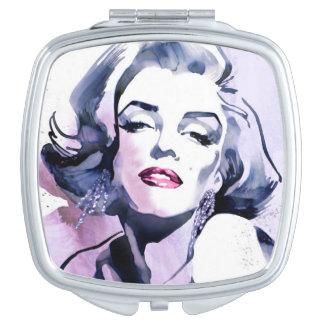 Pretty in Purple Makeup Mirror