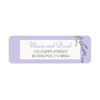 Pretty in Purple | Return Address Label