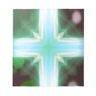 Pretty Inspirational Cross Shaped Pattern Notepad