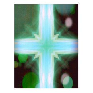 Pretty Inspirational Cross Shaped Pattern Postcard