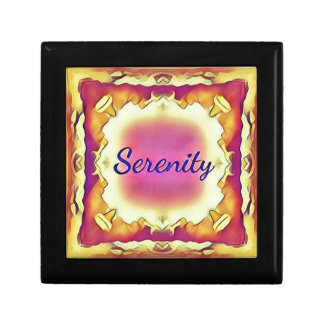 Pretty Inspirational Framed 'Serenity' Small Square Gift Box
