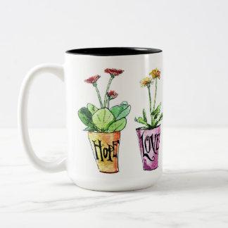 Pretty inspirational mug flowers gerbera daisies