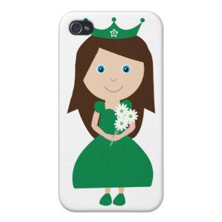 Pretty Irish Princess Cute Cartoon Character iPhone 4 Covers