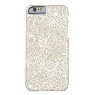 Pretty Ivory Lace Leaf Pattern Barely There iPhone 6 Case