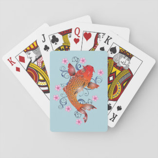 Pretty Japanese Koi Fish Playing Cards