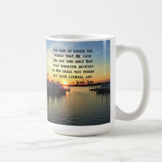 PRETTY JOHN 3:16 SUNSET PHOTO DESIGN COFFEE MUG