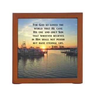 PRETTY JOHN 3:16 SUNSET PHOTO DESIGN DESK ORGANISER