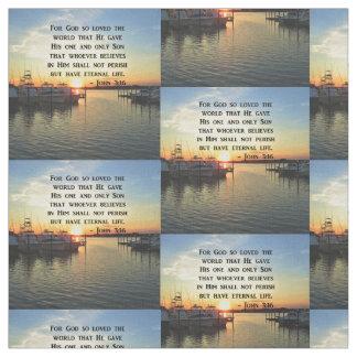 PRETTY JOHN 3:16 SUNSET PHOTO DESIGN FABRIC