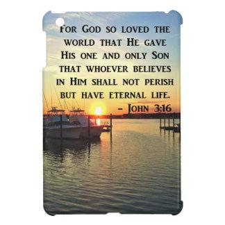 PRETTY JOHN 3:16 SUNSET PHOTO DESIGN iPad MINI COVER