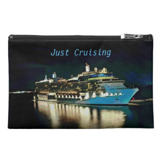 Pretty 'Just Cruising' Artistic Ship At Night Travel Accessory Bag