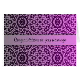 Pretty kaleidoscope gradient wedding congrats card