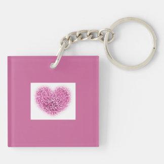 Pretty Key Chain in pink.