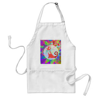 Pretty Kitty Crazy Cat Lady Gifts Vibrant Colorful Apron