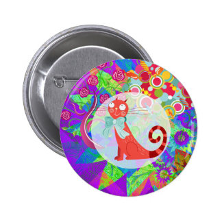Pretty Kitty Crazy Cat Lady Gifts Vibrant Colorful Pins
