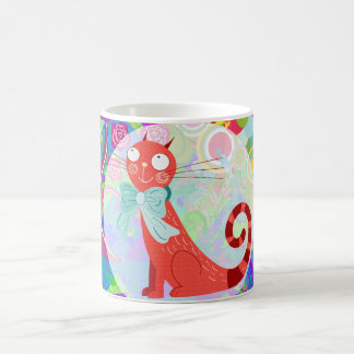 Pretty Kitty Crazy Cat Lady Gifts Vibrant Colorful Coffee Mug
