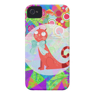 Pretty Kitty Crazy Cat Lady Gifts Vibrant Colorful iPhone 4 Case-Mate Case